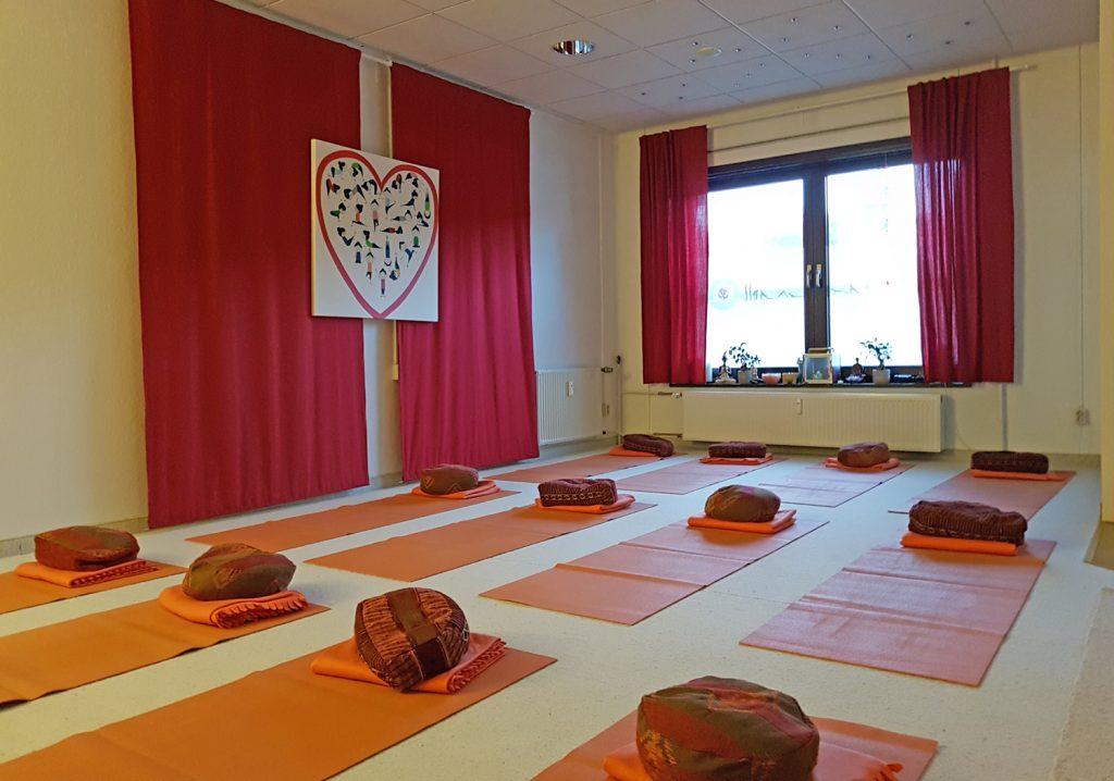 Blick in mein Yoga-Studio in Schmölln.